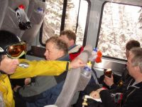 Metal Form Snowcat Cat Interior at Chatter Creek Cat Skiing