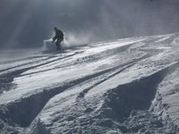 Snowboarding on Powder Snow at Chatter Creek