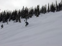 Skiing the Phat on East Ridge at Chatter Creek