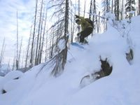 Hucking Bumps on the East Ridge at Chatter Creek