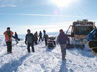 Chatter Creek Snowcat at 9600 ft. elevation
