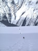 Glacier Skiing on the Vertebrae Glacier at Chatter Creek