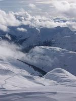 Lodge Ridge viewed from Vertebrae Glacier