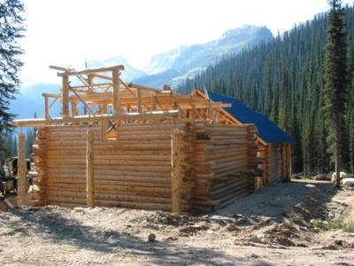 Chatter Creek Mountain Lodge Construction