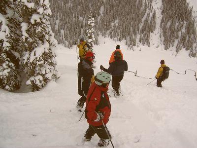 Powder Skiing on Mummy's Run