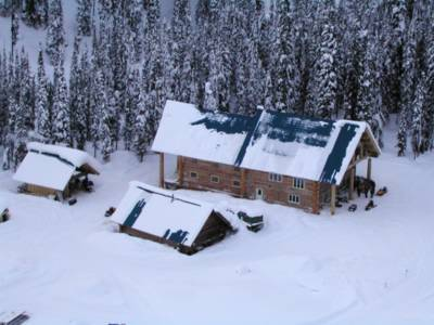 Remote backcountry lodge at Chatter Creek