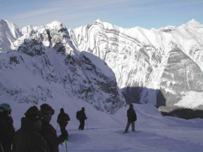 Glacier Skiing Group Ready to Go at Chatter Creek