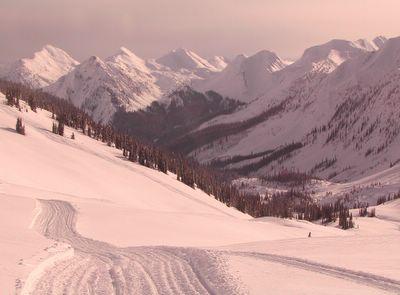 Cat Skiing Terrain on Lodge Ridge
