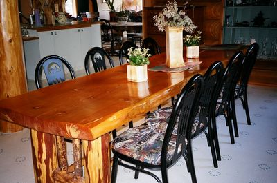 Jerry Cook's Rustic Wood Furniture at the Kicking Horse Canyon B&B in Golden BC