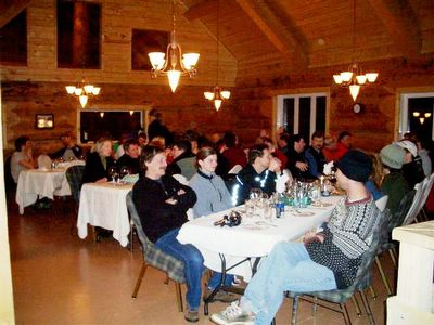 Dinner time at the Chatter Creek Ski Lodge