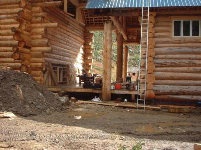 Solitude Lodge Construction at Chatter Creek