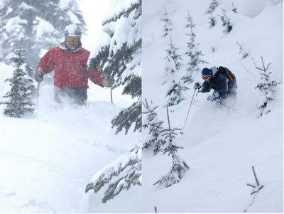 Tree Skiing at Chatter Creek