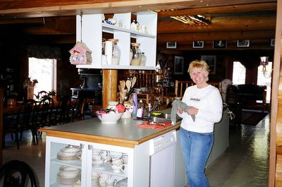 Jeannie Cook, hostess and cook at the Kicking Horse Canyon B&B