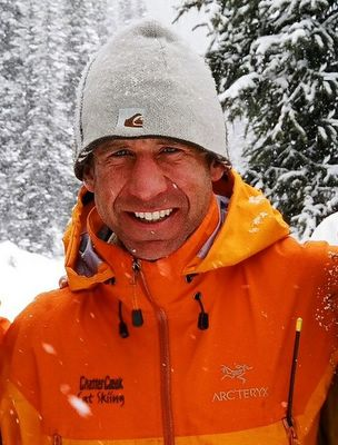 Chatter Creek ACMG Assistant Guide, Ken Black shows off his ARC'TERYX staff jacket