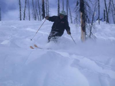 Powder Skiing in the Old Burns