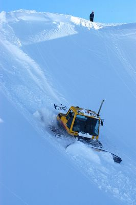 Camoplast Snowcats building snow roads at Chatter Creek Snowcat Skiing