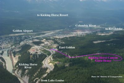 Golden BC Aerial Photo