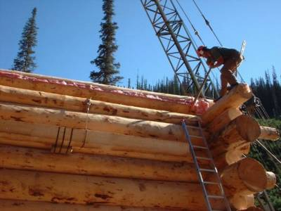 Mountain Lodge Construction at Chatter Creek