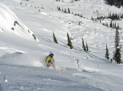 Snowboarding at Chatter Creek