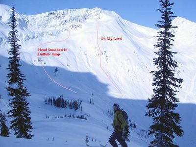 Alpine Terrain at Chatter Creek Cat Skiing