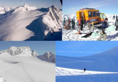 Cat Skiing in the High Alpine and on Vertebrae Glacier