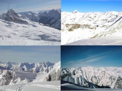 Cat Skiing views at almost 10,000 ft in the Canadian Rocky Mountains