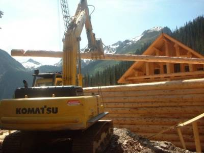 Mountain Lodge Construction at Chatter Creek Cat Skiing
