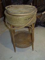 Wicker Sewing Cabinet