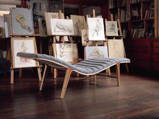 dunbar wormley furniture midcentury modern listen to me chaise