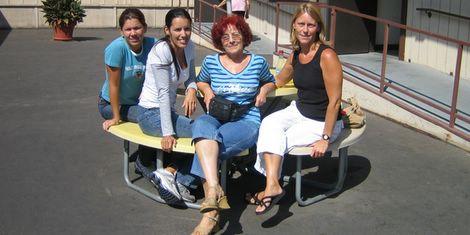 Christiania, Patricia, Mayra en ik