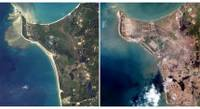 Tsunami Satellite Images before and after
