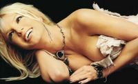 Britney Spears showing lots of cleavage