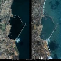Mega Tsunami Satellite Picture of Chennai