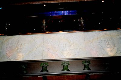 Bas relief of 'heroes' on the Carnival Valor