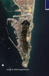 Gibraltar with no labelling