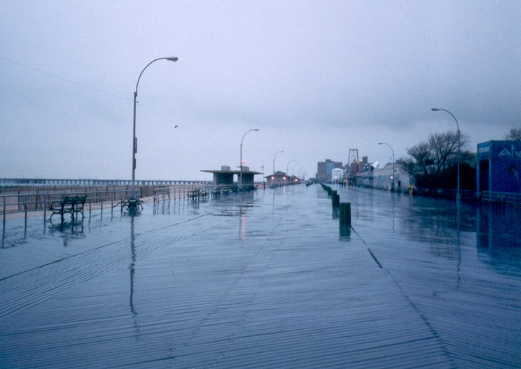 Coney Island boardwalk, Brooklyn, New York