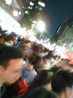 fast impression of a crowded festival