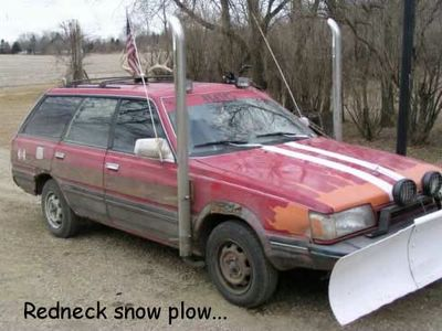 Redneck Snow Plough