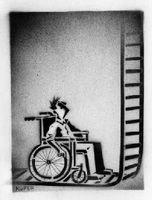 silla y escalera