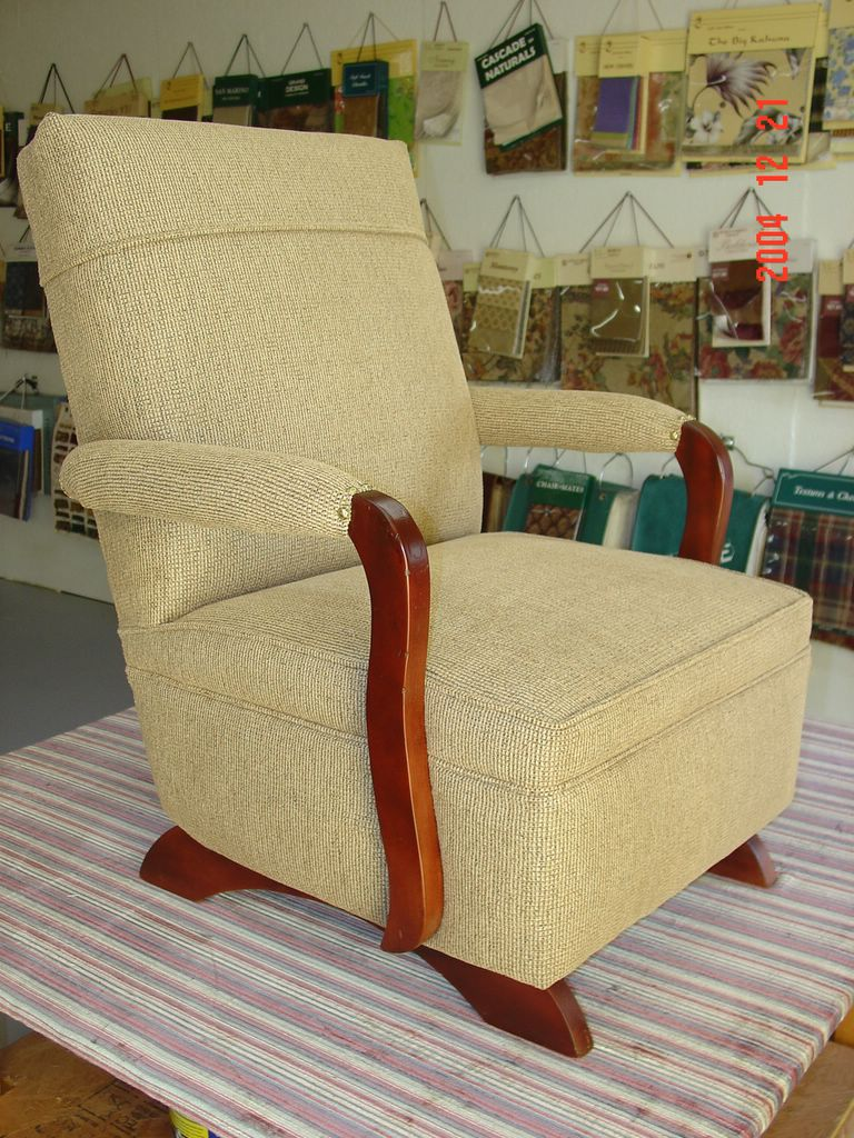 Howard\'s Upholstery: 70 Year Old Rocker Rebuilt From The Frame Up