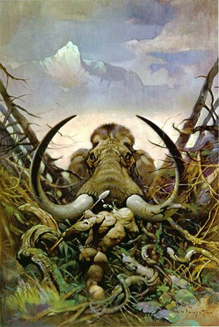 l'image de l'homme préhistorique - Page 5 Mammoth%20Frazetta
