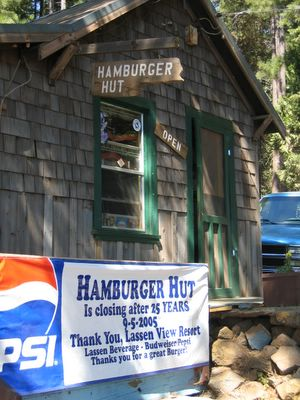 Hamburger Hut Lassen View Resort