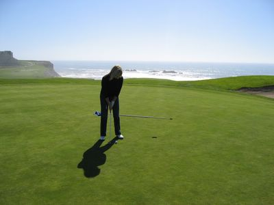 17th green on the Old Course at Half Moon Bay