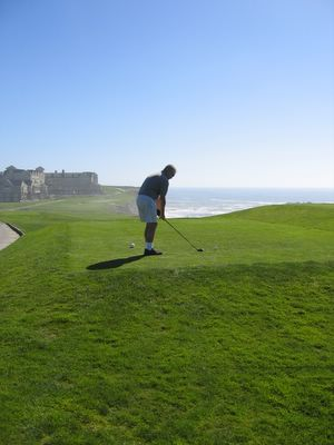 18th tee on the Old Course at Half Moon Bay