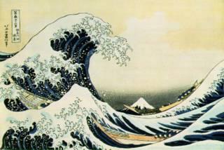 Hokusai woodblock print