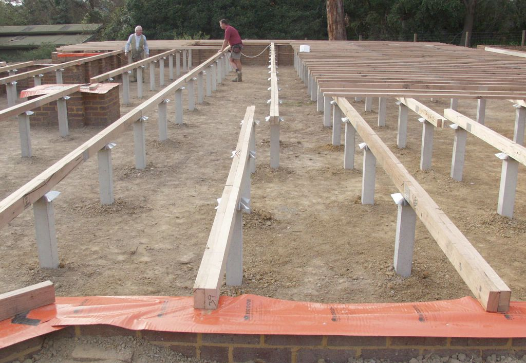 Steve and julie 39 s victorian home sub floor framing for Floor joist construction