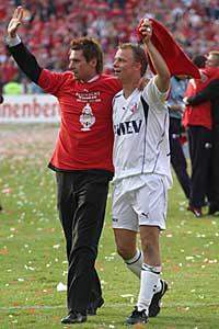 Pascal nà de finale van de Amstel Cup, samen met Jordy Zuidam