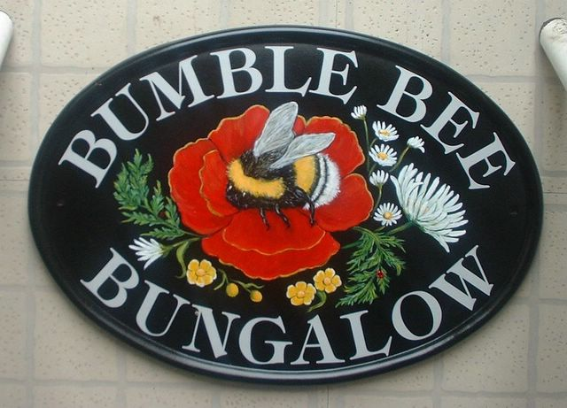 Bumble Bee House Name Plate