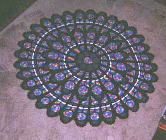 Free Crochet Pattern For Cathedral Window Afghan : The Crochet Dude: Cathedral Rose Window Afghan - photo