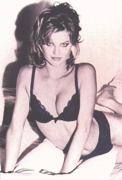 Eva Herzigova, black bra